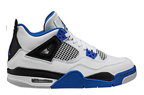 new concept fd745 96771 Galleon - NIKE Air Jordan 4 Retro BG Big Kids  Basketball Shoes White Game  Royal Black, 5.5