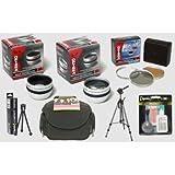 Sony Handycam HDR-UX1 UX10 UX20 SR1 HC62 HC52 HC96 HC3 DCR-SR42 SR45 SR65 SR85 SR220 SR10 Handycam Camcorder Pro HD2 Digital Accessory Kit