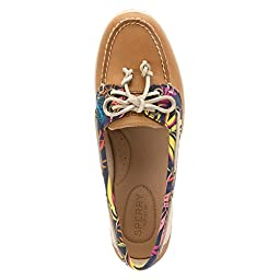 Sperry Top-Sider Women\'s Firefish Seaweed Print Linen Boat Shoe 8.5 M (B)