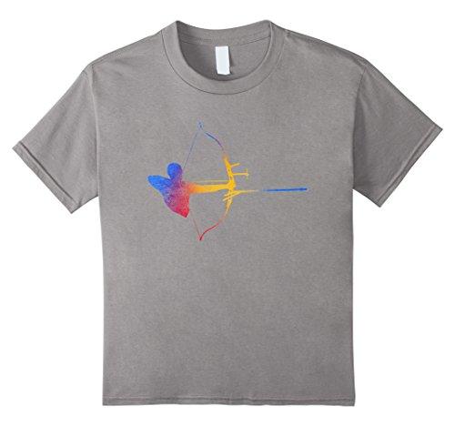 Target Girls Fashion - Kids Archery Target Archer Arc Arrow T Shirt Bowman Distressed 12 Slate
