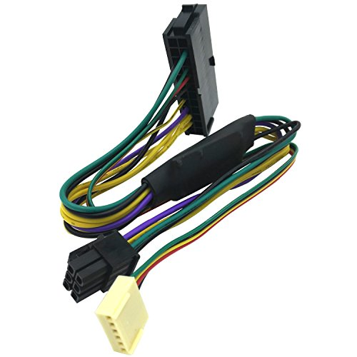 COMeap 24 Pin to 6 Pin PCI-E ATX Main Power Adapter Cable for HP Z220/Z230 Workstation 12-inch(30cm) -