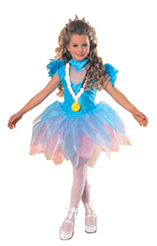 [Barbie Olympic Ice Skater Barbie Costume (Small (4-6))] (Ice Skating Dress Costumes)