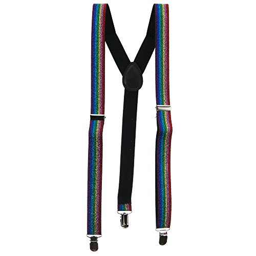 Sparkle Suspenders - Rainbow