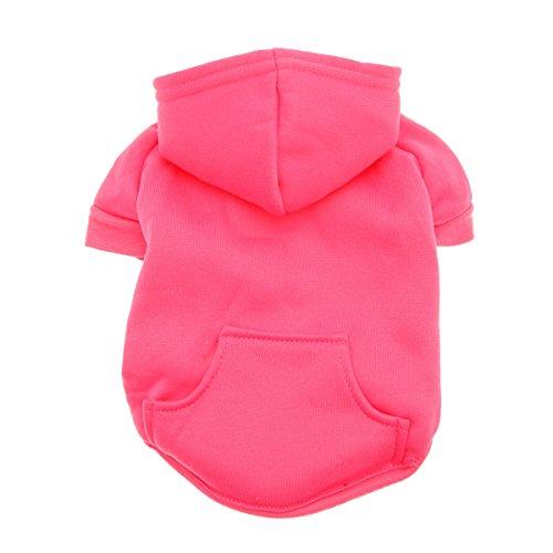 Barking Basics Dog Hoodie, Dark Pink, (Basic Dog Hoodie Sweatshirt)