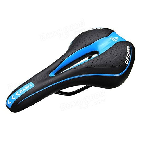 MTB Cushion Folding Bike Road Bike Saddle ( Black & Blue )