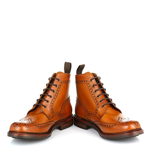 Loake Men's Bedale Brogue Boots - Tan - 8.5