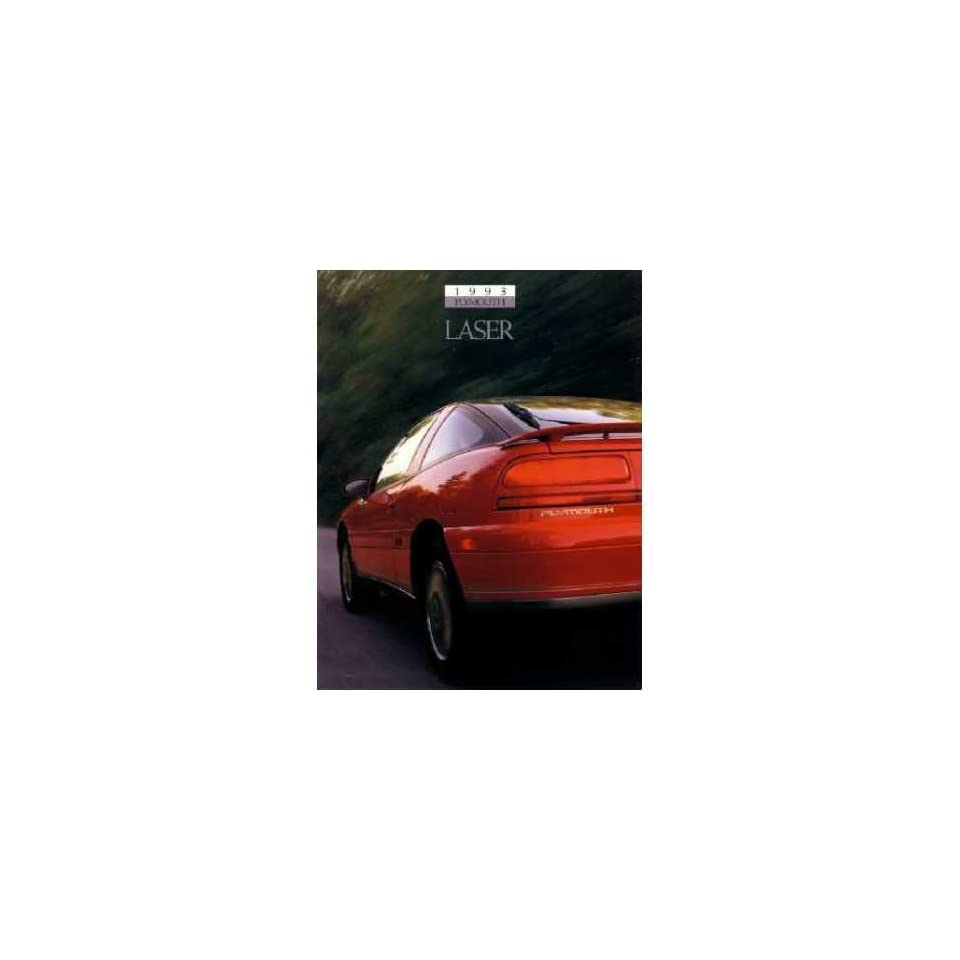 1993 Plymouth Laser Sales Brochure Literature Book Advertisement Options Specs