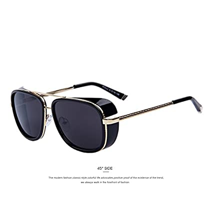 Amazon.com   IRON MAN 3 Matsuda TONY Steampunk Sunglasses Men Mirrored  Designer Brand Glasses Vintage Sun glasses   Everything Else 611acbacba