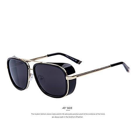 917183ac7a7f9 Amazon.com   IRON MAN 3 Matsuda TONY Steampunk Sunglasses Men Mirrored  Designer Brand Glasses Vintage Sun glasses   Everything Else