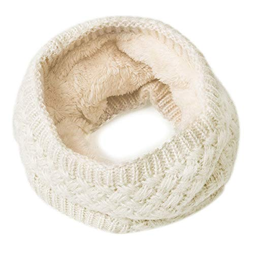 (EVRFELAN Infinity Scarf Winter Women Circle Loop Scarves Warm Kids Neck Warmer Chunky Knit Soft Thick Fashion Ladies Accessories Ribbed Girls Men Boy Collar (Beige) )