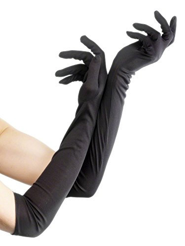 Flapper Costume Uk (Fever Women's Long Gloves, Black, One Size, 9363)
