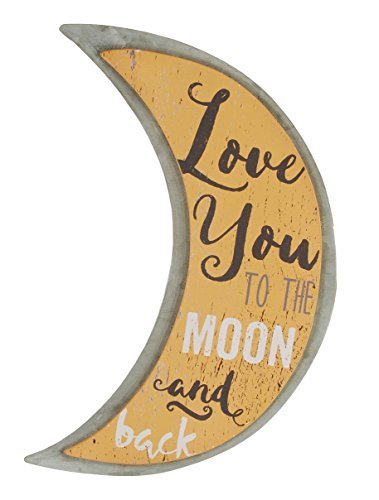 Blossom Bucket moon metal wall art - metal home wall art decor