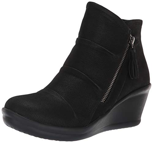 - Skechers Women's Rumblers-Ruched Vamp Bootie with Tassel Ankle Boot, Black, 5 M US