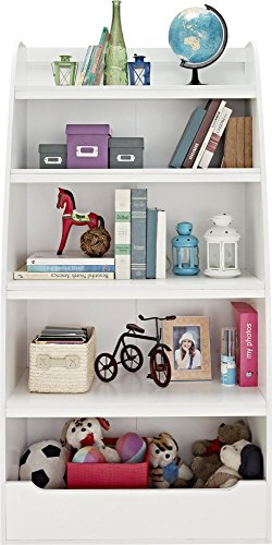 Ameriwood Home Hazel Kids 4 Shelf Bookcase, White
