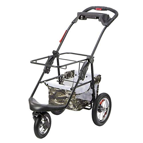 PETIQUE Pet Stroller, Army Camo, One Size
