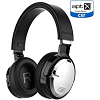 Wireless Charging Active Noise Cancelling Headphone New Bee Bluetooth 4.2 Wireless Headphones with aptX Low Latency Microphone Deep Bass HiFi Stereo Over Ear 60H Playtime for Travel/TV/Computer/Iphone