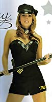 Forplay Sexy Police 2PC Outfit Corset w/ Vinyl Trim Shorts Size S/M