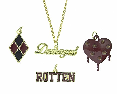 DC+Comics Products : DC Comics Suicide Squad Harley Quinn Multi Charm Choker Necklace