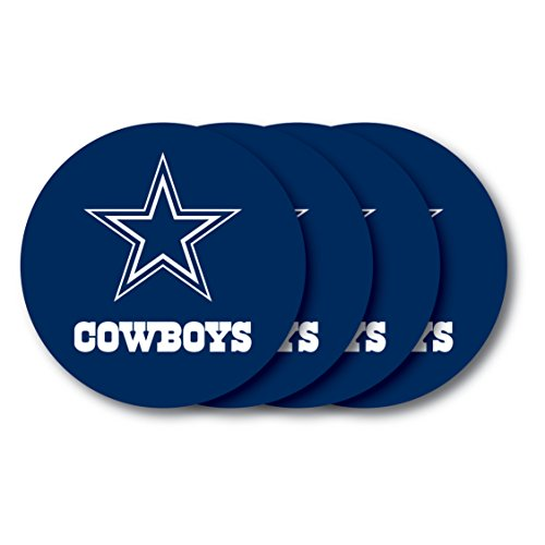 NFL Dallas Cowboys Vinyl Coaster Set (Pack of 4)