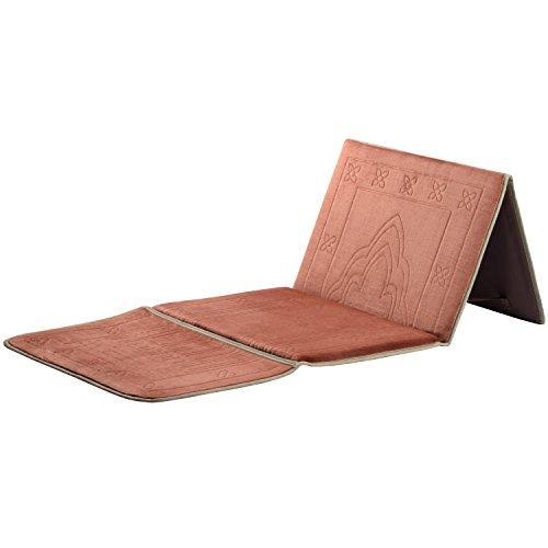 Muslim Prayer Carpet,Deserthome Fold Islam Portable Prayer Rugs with Storage Bag Back Carpet (Coffe)