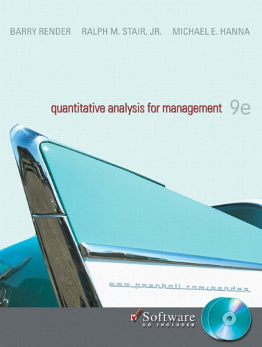 quantitative analysis for management 9th edition pdf