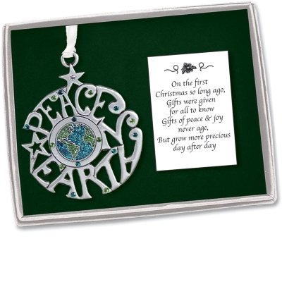 Cathedral Art PO501 Peace on Earth Christmas Ornament, 2-1/2-Inch by Cathedral Art