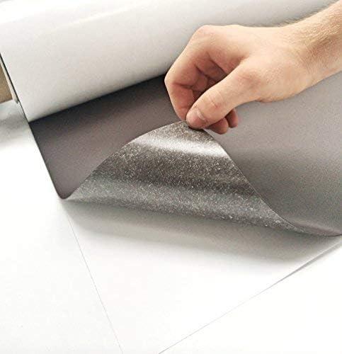 Magnetfolie Weiß Matt Roh 200mm x 300mm