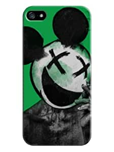 Sangu Mouse Hard Back Shell Case / Cover for Iphone 5 and 5s - Green