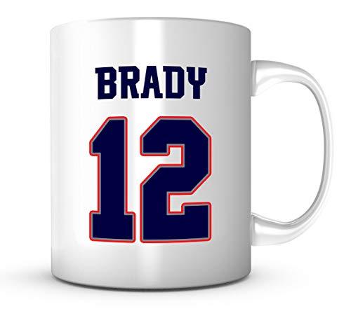 (Tom Brady Mug - Jersey Number Football Coffee Cup)