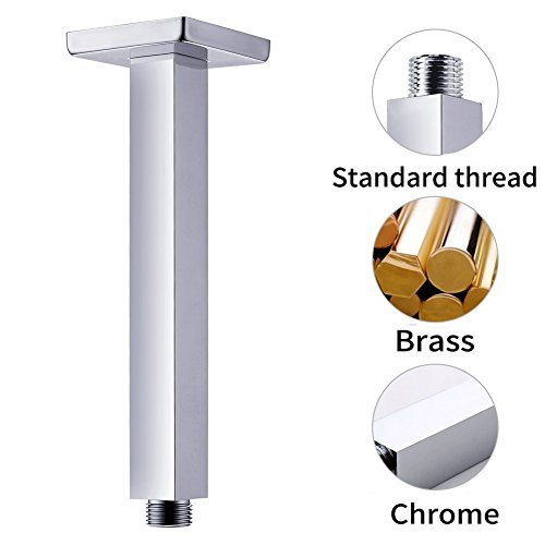 Artbath Shower Trim Kit and Rough-in Shower Valve Body, Ceiling Mounted 12 inch Rain Shower Head Set, Chrome Finished by Artbath (Image #4)