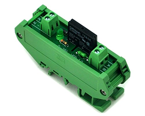 ELECTRONICS-SALON DIN Rail Mount 1 Channel SSR/Solid State Relay Interface Module, (Solid Din Rail)