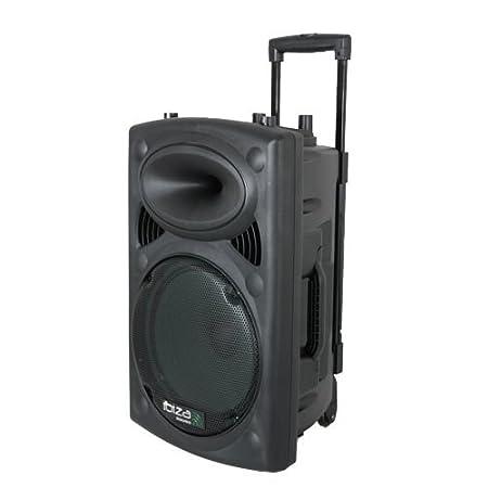 Ibiza Sound PORT12UHF-BT - Megafoní a portá til, 12 pulgadas, color negro Lotronic Megafonía portátil