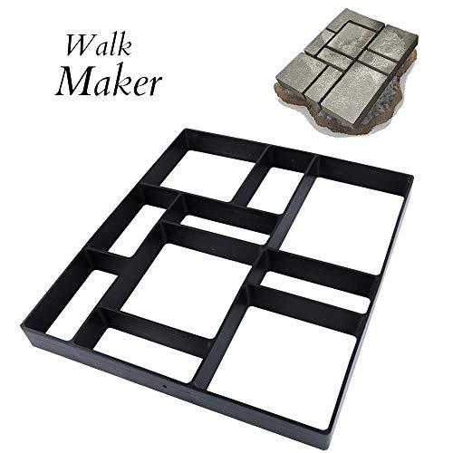 "17.5""x15.5""x1.5"" CJGQ Walk Path Maker Reused Concrete Molds Paving DIY Path Garden Yard Patio Mold (10-Grid)"