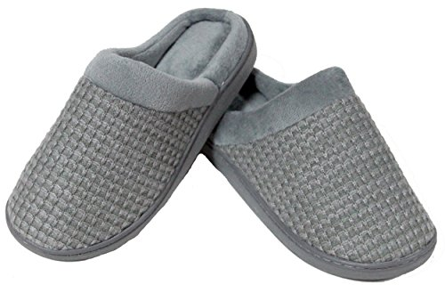Luxehome Womens Slip-On Cozy Knit House Footwear/Slippers(1-12) Grey GoQzFzkeK