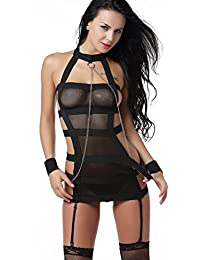 The Victory of Cupid Teddy tight black miniskirt female Lingerie pajamas