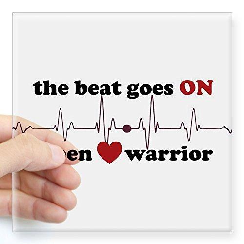 - CafePress - Open Heart Warrior Sticker - Square Bumper Sticker Car Decal, 3