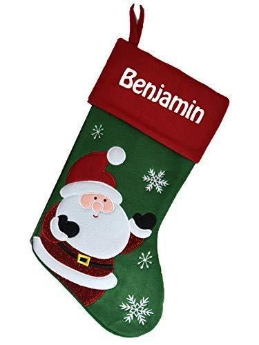 Chaussette de Noël à personnaliser motif Père Noël Botte de Noël à personnaliser