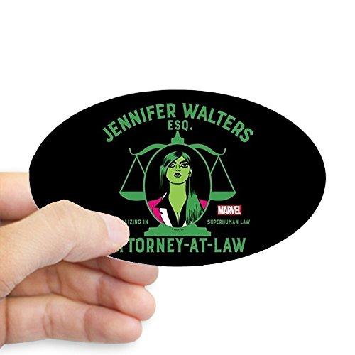 CafePress She Hulk Attorney at Law Full Bleed Sticker Oval Bumper Sticker, Euro Oval Car ()