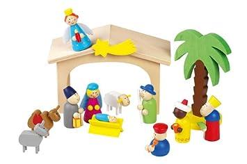 Haba Weihnachtskrippe.Moses 17477 Kinder Weihnachtskrippe Aus Holz