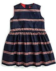 فستان أدابتيف بدون أكمام مع أزرار مغناطيسية وفيلكرو من تومي هيلفيجر للفتيات