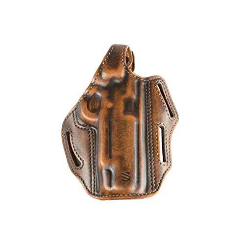 BLACKHAWK! HOLSTER 450003ABR 3 SLOT PANCAKE COLT 5IN GOVTN RH ANTIQUE BROWN ()
