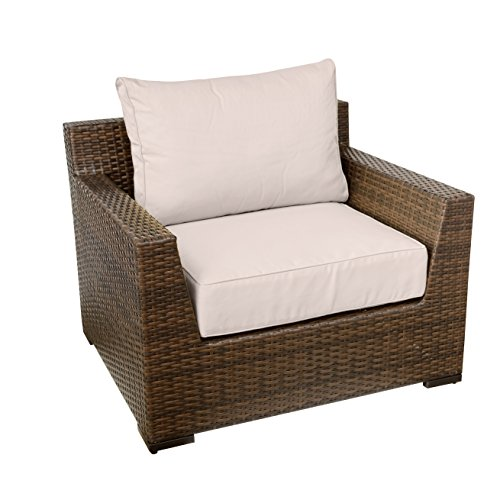 Vida Outdoor Pacific Wicker Club Chair with Wheat Cushions Review