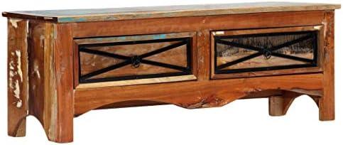 vidaXL - Mueble para televisor con 2 cajones, Mueble bajo para televisión, Mueble para TV, Mesa de Alta fidelidad, 120 x 30 x 40 cm, Madera Maciza reciclada: Amazon.es: Juguetes y juegos