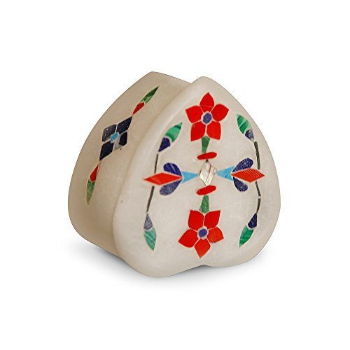 What Your Gift Says About You :Heart Shaped Stone Jewelry Trinket Box to Express Thought Behind The Gift, a la maniere de a Wise Man' (for Danglers, Pendant, Multicoloured)