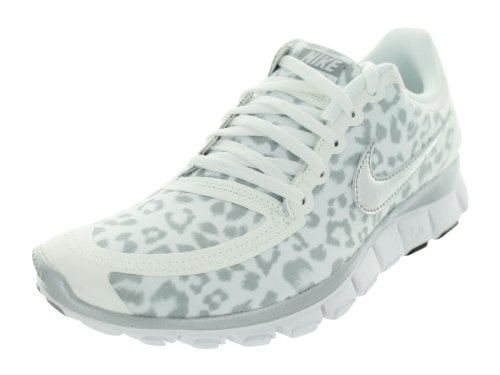 new arrival 8bd2d c3206 NIKE Free 5.0 Womens Running Shoe Leopard Print White Metallic Silver Wolf  Grey - Buy Online in UAE.  Shoes Products in the UAE - See Prices, ...