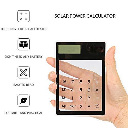 Mini Ultra Slim Tragbare Transparent Lcd Display Solar Rechner Taschenrechner
