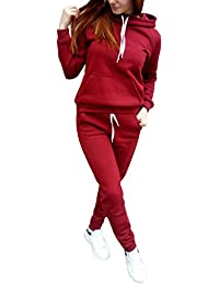 Women's Athletic Pullover Hoodie+Pant Tracksuit Sport Sweat Suit Set