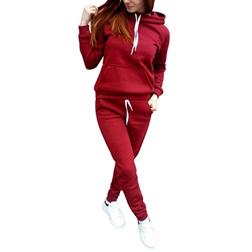 22ac57c50c0 Pantalon Petalum 2pcs Automne Longues Suits Tenue Survtement Manches  Jogging Velours Sport Sweat Capuche Femmes Top Sportifs Rouge shirt  Vtements Pull ...