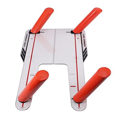 Flashsolar Golf Perfect Path Golf Speed Trap Base & 4 Speed Rods Speed Trap Golf Swing Training Aid by Flashsolar