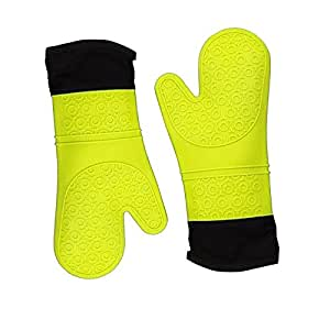 Silicone Oven Mitt, Heat Resistant Potholder Gloves for Cooking & a Indoor or Outdoor Nice Barbecue,Color Red .Small
